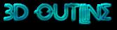 Font Metrolox 3D Outline Textured Logo Preview