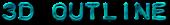Font Plastique 3D Outline Textured Logo Preview