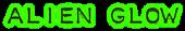 Font Plastique Alien Glow Logo Preview