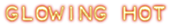 Font Plastique Glowing Hot Logo Preview