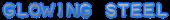 Font Plastique Glowing Steel Logo Preview