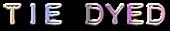 Font Plastique Tie Dyed Logo Preview