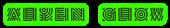 Font Radio Alien Glow Logo Preview