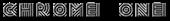Font Radio Chrome One Logo Preview