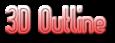 Font Slimania 3D Outline Gradient Logo Preview