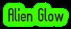 Font Slimania Alien Glow Logo Preview