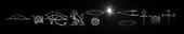 Font Yiroglyphics Black Hole Logo Preview