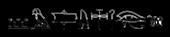 Font Yiroglyphics Gunmetal Logo Preview