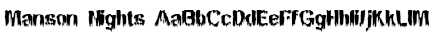 Manson Nights Font