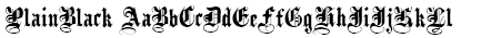 PlainBlack Font