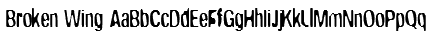 Broken Wing Font