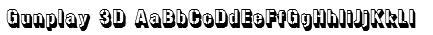 Gunplay 3D Font