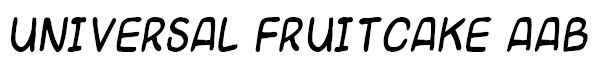 Universal Fruitcake Example