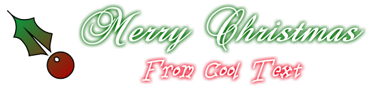 Cool Text: Merry Christmas From Cool Text Logo Design